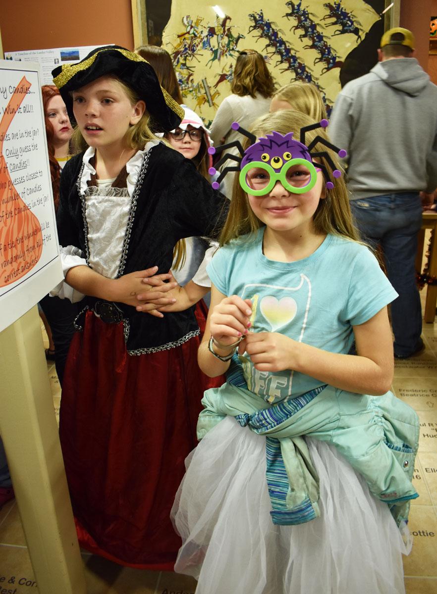Children dressed in halloween costums