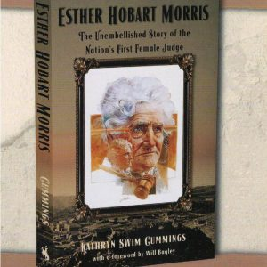 photo of a book cover with an image of Ester Hobart Morris at the center